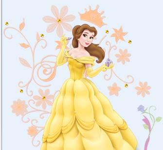 贝儿公主简笔画色彩