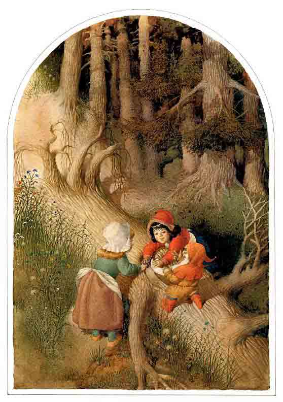 格林童话插画手绘图片