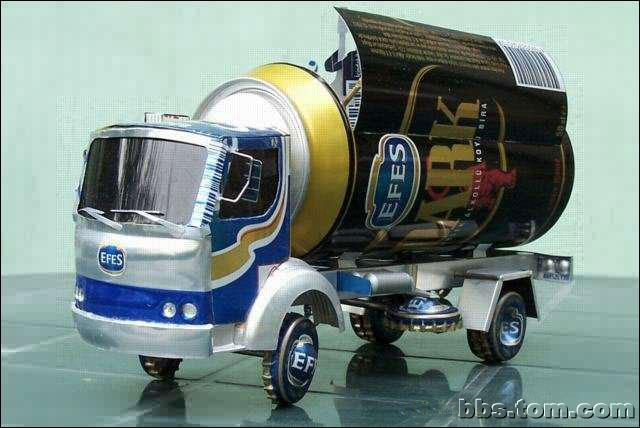 易拉罐制作汽车全过程——真强