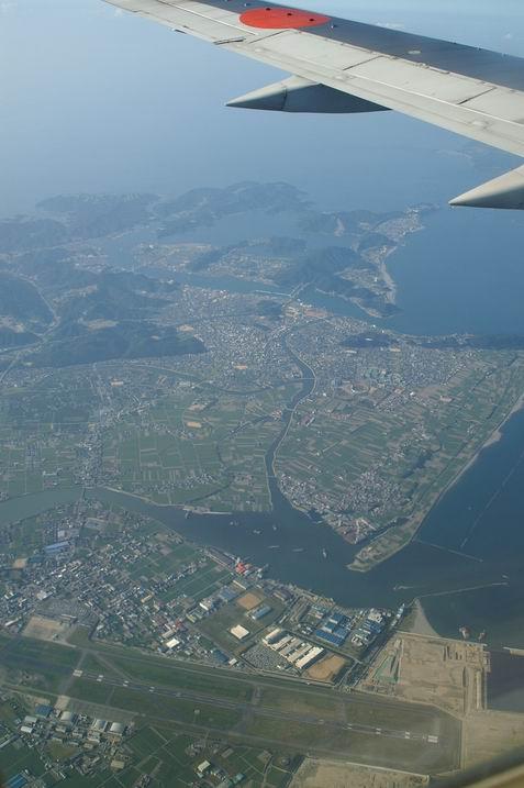 飞机上看日本!你有什么感想?