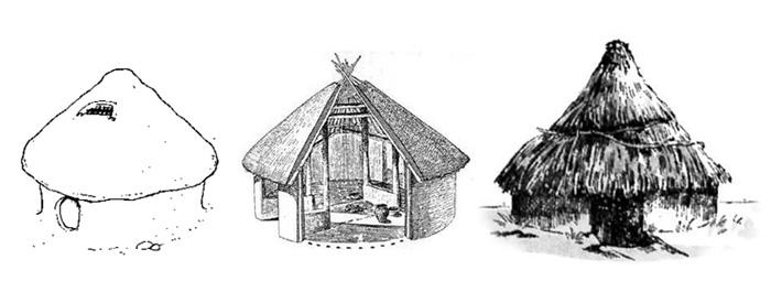 圆形建筑手绘稿