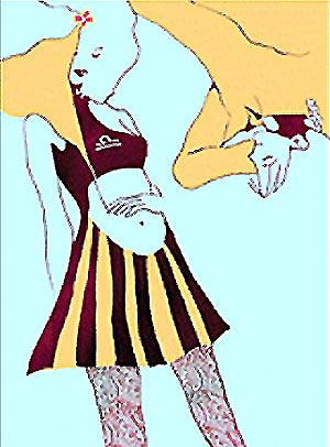 天平座女生动漫手绘图