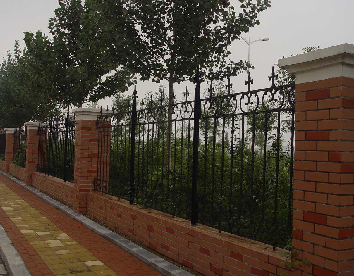 围墙效果图 围墙大门效果图 砖砌围墙效果图
